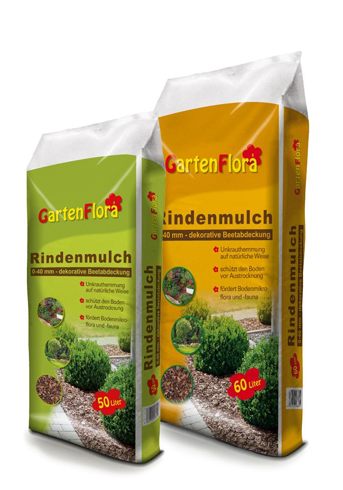GartenFlora Rindenmulch Gebinde 50 und 60 L