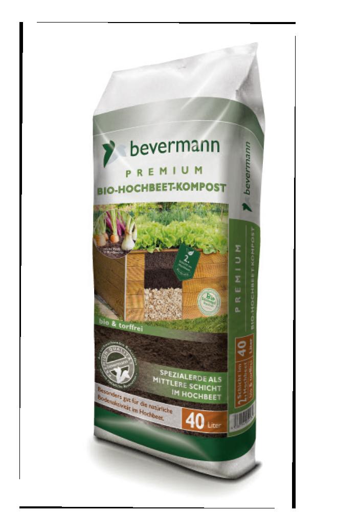 Bevermann Premium Hochbeet Kompost Bio Grünstempel