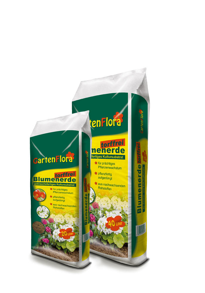 GartenFlora Blumenerde Torffrei 20 und 40 L
